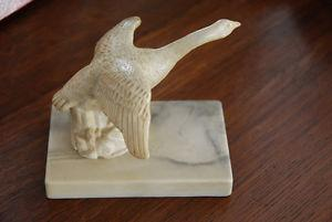 Vintage Canada Goose decorative carving paperweight