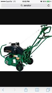 Wanted: Looking for aerator and lawn vac