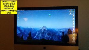 iMac ) QUAD CORE i7 16GB RAM 240GB SSD