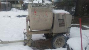 used gas powered mortar mixer trailer
