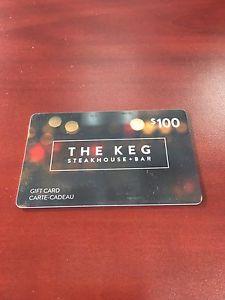 $100 gift card The Keg for $90 OBO