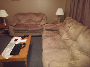 $180 for Both Couch and Love Seat-Microfibre