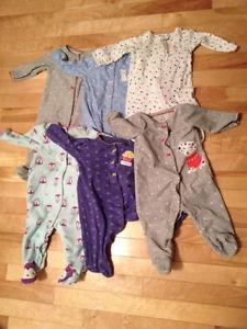 6 months Girl's pyjamas - 6 mois pyjamas de fille