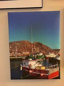 Canvas picture of Boat in St. John's harbour