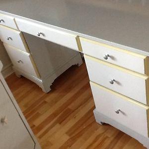 Desk/ vanity - Grey & hint of lime desk