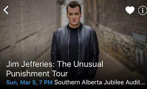 Jim Jeffries: The Unusual Punishment Tour - Mar 5, 7pm. 2
