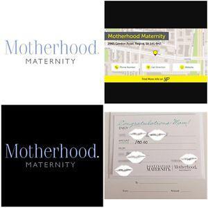 Motherhood Maternity Gift Card/Cert.