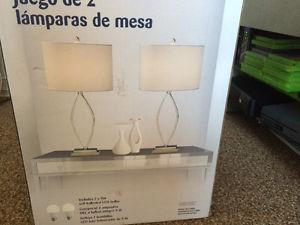 New Set Of 2 Table Lamps