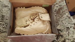 Palladium Cream color Boots, Women's size 7 Brand New