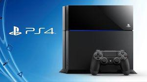 Playstation 4 with games and two controllers