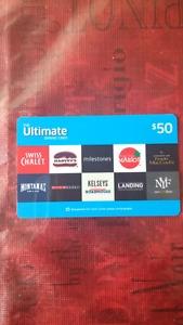 Restaurant gift card for sale