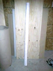 Roll of Tyvek House Wrap, Steelwood Door & Roll of Ram Board