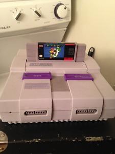 Super NIntendo Console WIth Mario World