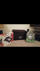 12 sub with amplifier and cable set