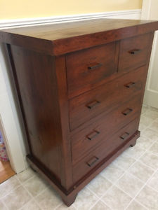 5 drawer solid wood dresser for sale