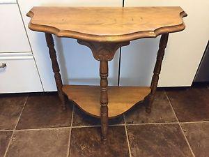 Antique Oak Half Moon Table