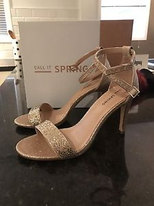 Brand new gold heels (size 8)