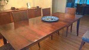 Canadian Maple Dining Table and 6 Chairs by Baronet