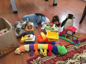 Fisher-price, Little tikes toys and 20 stuffed animals