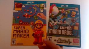 For Wii U-Super Mario Maker and Super Mario Bros+Super Luigi