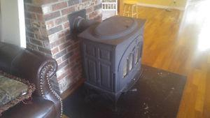Large cast wood stove.
