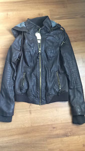 New Brown Faux Leather Jacket sz small