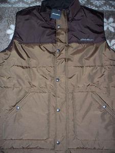 New Eddie Bauer Nylon winter vest-corduroy trim on inside
