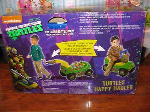 Ninja turtles 2 in 1, car, wagon new