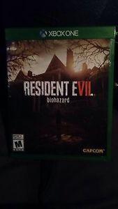 Resident Evil 7 for Xbox One 60$ or Best Offer