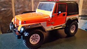 Tamiya Jeep Wrangler R/C truck w/ servo and speed control.
