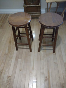 2 new never used bar stools 24 inch