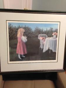 Dawn Baker - Print (Tea Time), professionally framed.