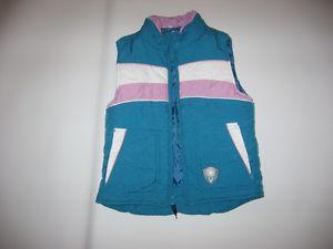 Girls Size M Blue Winter Vest