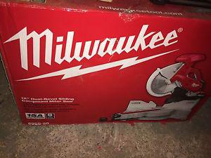 "New Milwaukee 12"" Dual Bevel Sliding Compound Miter Saw"