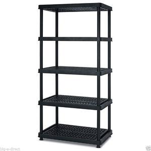 Resin storage shelf