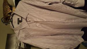 Selling 2 like new dress shirts from Moores