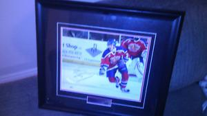 Signed autographed framed picture of mark pysyk Edmonton oil