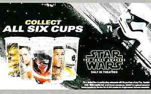 Star Wars The Force Awakens Subway Collector Cup Set