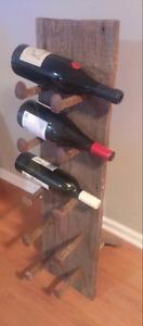 Barn board wine rack