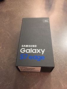 Black Samsung Galaxy S7 Edge (brand new)
