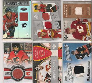 Calgary Flames Lot of 15 Jersey Hockey Cards Iginla, Kipper