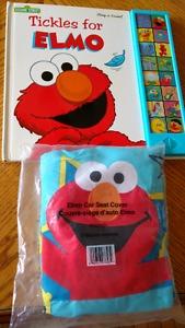 Elmo Sound Book and Car Seat Cover