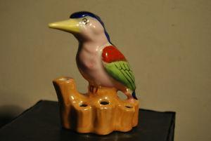 Flower Frog Figurine Made in Japan Multi color l
