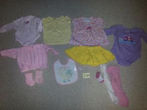 Girl's Size 0-9M Clothing Items for Sale!