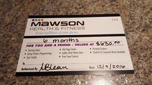 Mawson health and fitness membership