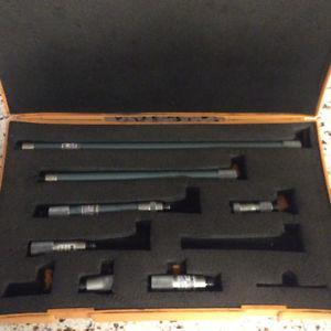 Mitutoyo Precision Micrometer combination set