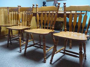 Roxton Maplewood Chairs (Optional Matching Table)