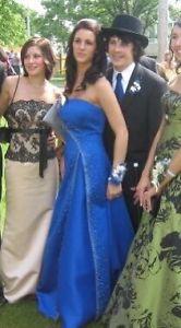 Royal Blue A line Gown Grad Dress size 8