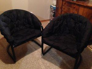 Two Black Chairs - Excellent Condition
