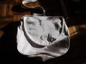 delane cream leather bag made in canada top quality